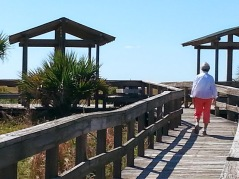 Smyrna Dunes Park is great for the elderly walkers