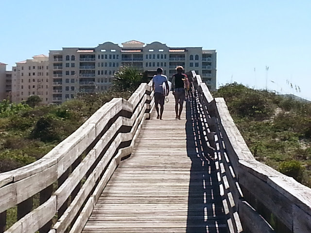 Trekking across the dunes at New Smyrna Dunes Park