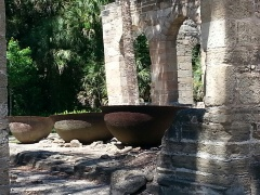 Cauldrons or kettles for boiling sugar cane syrup at New Smyrna Sugar Mill Ruins