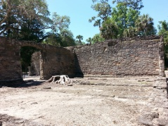 Crumbling walls at New Smyrna Sugar Mill Ruins