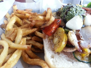 Veggie Sandwich at North Beach Bar and Grill on Tybee Island